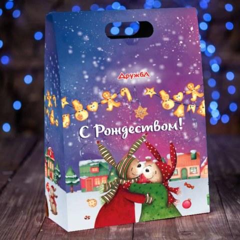 коробка подарка С Новы годом