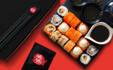 разработка логотипа для суши бара