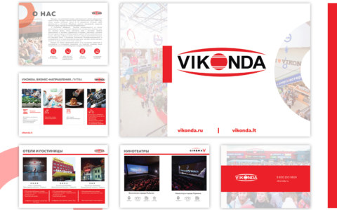 разработка презентации ТРЦ Vikonda